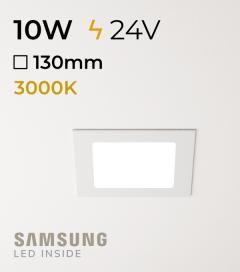 Faretto da Incasso Quadrato Slim 10W BIANCO CALDO - Downlight - LED Samsung