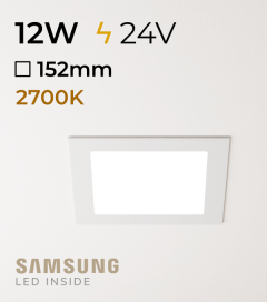 Faretto da Incasso Quadrato Slim 12W LUCE CALDA - Downlight - LED Samsung