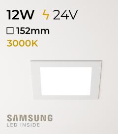 Faretto da Incasso Quadrato Slim 12W BIANCO CALDO - Downlight - LED Samsung