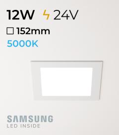 Faretto da Incasso Quadrato Slim 12W BIANCO FREDDO - Downlight - LED Samsung