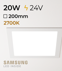Faretto da Incasso Quadrato Slim 20W LUCE CALDA - Downlight - LED Samsung