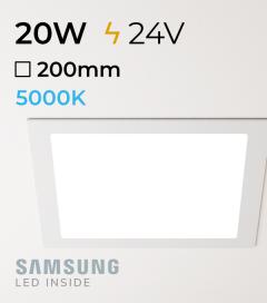 Faretto da Incasso Quadrato Slim 20W BIANCO FREDDO - Downlight - LED Samsung