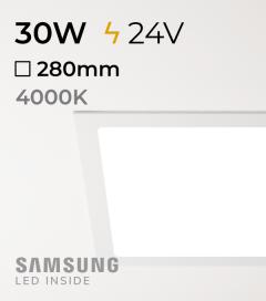 Faretto da Incasso Quadrato Slim 30W BIANCO NATURALE - Downlight - LED Samsung