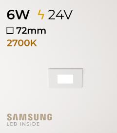 Faretto da Incasso Quadrato Slim 6W LUCE CALDA - Downlight - LED Samsung