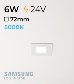 Faretto da Incasso Quadrato Slim 6W BIANCO FREDDO - Downlight - LED Samsung