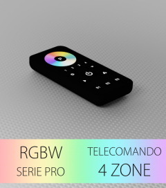 Controller RGBW Touch Programmabile con Telecomando PRO a 4 Zone + Centraline
