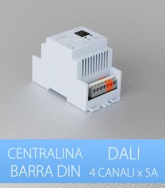 Centralina DALI 4 Canali x 5A per Barra DIN - Indirizzo singolo