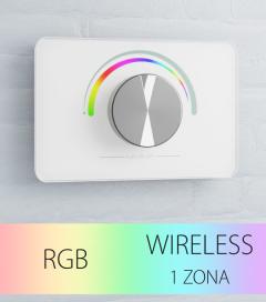 Controller da parete Wireless con Rotella per strisce LED - Bianco o Nero