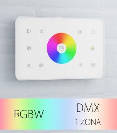 Controller RGBW Touch da Parete a 1 Zona DMX - per strisce LED - Bianco o Nero