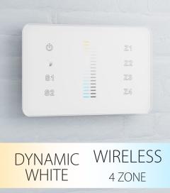 Controller Bianco Dinamico Slider Touch da Parete a 4 Zone Wireless - per strisce LED