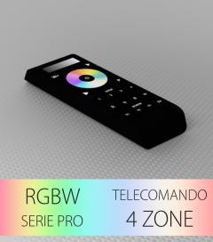 Controller RGBW Touch Programmabile con Telecomando Slider e Ruota a 4 Zone + 4 Scenari - Con Centraline
