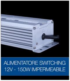 Alimentatore Switching 12V 150W Stabilizzato Resistente all'acqua