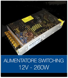 Alimentatore Switching 12V 260W DC STABILIZZATO