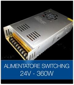 Alimentatore Switching 24V 360W Stabilizzato