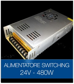Alimentatore Switching 24V 480W Stabilizzato