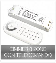 Dimmer telecomando touch a 8 zone + centraline