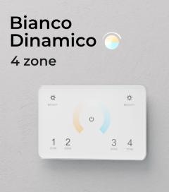 Controller Bianco Dinamico Touch da Parete - 4 Zone + Centraline