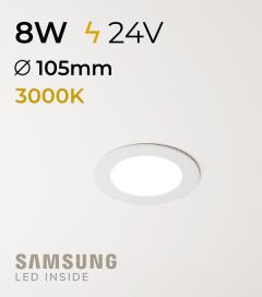 Faretto da Incasso Rotondo Slim 8W BIANCO CALDO - Downlight - LED Samsung