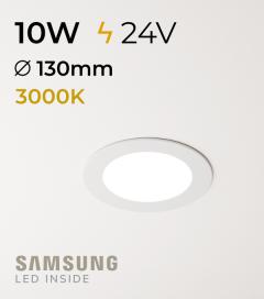 Faretto da Incasso Rotondo Slim 10W BIANCO CALDO - Downlight - LED Samsung