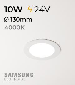 Faretto da Incasso Rotondo Slim 10W BIANCO NATURALE - Downlight - LED Samsung