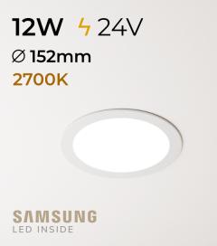 Faretto da Incasso Rotondo Slim 12W LUCE CALDA - Downlight - LED Samsung