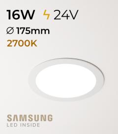 Faretto da Incasso Rotondo Slim 16W LUCE CALDA - Downlight - LED Samsung