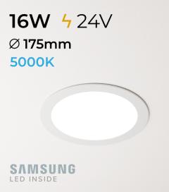 Faretto da Incasso Rotondo Slim 16W BIANCO FREDDO - Downlight - LED Samsung