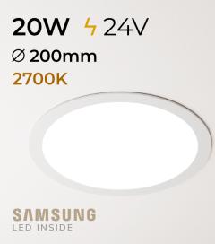 Faretto da Incasso Rotondo Slim 20W LUCE CALDA - Downlight - LED Samsung