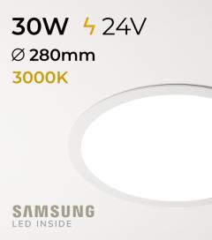 Faretto da Incasso Rotondo Slim 30W BIANCO CALDO - Downlight - LED Samsung