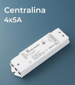Centralina Ricevente 4 canali x 5A - Funzione dimmer, RGB, RGBW e Bianco Dinamico