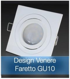 Corpo Faretto Bianco con Faretto LED GU10 5W - Design VENERE