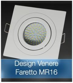 Corpo Faretto Bianco con Faretto MR16 7.5W - Design VENERE