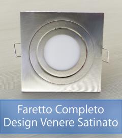 Faretto completo Satinato con PCB 11W - Design VENERE - Dimmerabile - Made In Italy