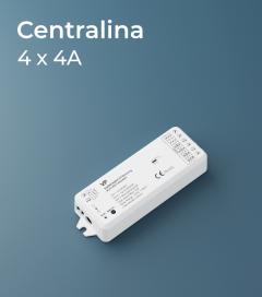 Centralina 4 canali x 3A - Controllo con Telecomando, Pannello e Smartphone