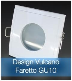 Corpo Faretto Bianco con Faretto LED GU10 5W - Design VULCANO