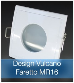 Faretto completo Bianco con PCB 11W - Design VULCANO - Dimmerabile - Made In Italy
