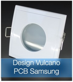 Faretto completo Bianco con PCB SAMSUNG 9W - Design VULCANO - Dimmerabile - Made In Italy