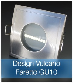 Corpo Faretto Satinato con Faretto LED GU10 5W - Design VULCANO