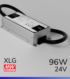 Alimentatore MeanWell XLG-100-24 24V 96W Resistente All'acqua - Tensione Regolabile