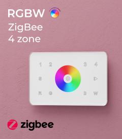 Controller RGBW Touch da Parete - 4 Zone - Wireless - Zigbee