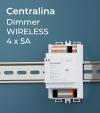 Centralina Ricevente 4 Canali x 5A - Per Telecomando e Smartphone - Barra DIN