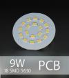 Scheda PCB 18 LED SMD 5630 SAMSUNG - Bianco Naturale