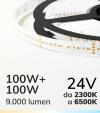 """Striscia LED Bianco Dinamico """"DYNAMIC WHITE"""" - 5 Metri - 100W+100W - 240 LED/m SMD2016 - da 2300K a 6500K"""