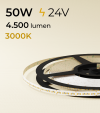 "Striscia LED 2216 ""PRO"" - 24V - 5 Metri - 50W - SMD2216 280 LED/m - Bianco CALDO - 3000K"