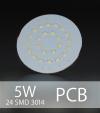 Scheda PCB 24 LED SMD 3014 - Bianco Naturale