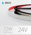 "Striscia LED 2835 ""ECO"" - 5 Metri - 72W - SMD2835 120 LED/m - Bianco NATURALE - 4000K - IP67C"