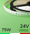 "Striscia LED 2835 ""PRO"" - 5 Metri - 75W - SMD2835 VERDE 120 LED/m"
