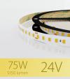 "Striscia LED 2835 ""PRO"" - 24V - 5 Metri - 75W - SMD2835 128 LED/m - Bianco CALDO - 3000K"