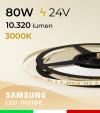"Striscia LED 2835 ""THIN"" - 5mm x 5 Metri - 80W - 140 LED/m SMD2835 Samsung - CRI90 - BIANCO Caldo 3000K"