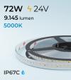 "Striscia LED 2835 ""ECO"" - 5 Metri - 72W - SMD2835 140 LED/m - Bianco FREDDO - 5000K - IP67C"
